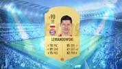 -1 Robert Lewandowski: drei Schnelligkeitspunkte und ein Rating-Downgrade von 91 auf 90 muss der Bayern-Stürmer hinnehmen