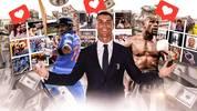 Virat Kohli, Cristinao Ronaldo und Floyd Mayweather (v.l.) verdienen pro Instagram-Post ordentlich Geld