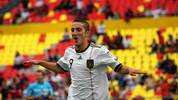 German player Samed Yesil celebrates his