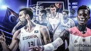 Die Stars der Basketball-EM Dennis Schröder, Marc Gasol, Pau Gasol, Luca Doncic, Kristaps Porzingis