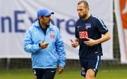 Trainer Jos Luhukay und John Heitinga im Trainingslager von Hertha BSC