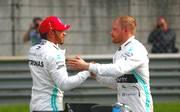 Lewis Hamilton und Valtteri Bottas werden morgen aus der ersten Startreihe in den Großen Preis von China gehen