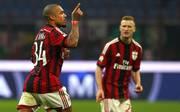 Nigel De Jong feiert seinen Treffer für den AC Mailand
