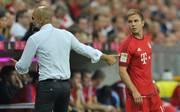 Mario Götze (r.) soll beim FC Bayern bleiben