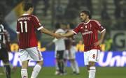 Zlatan Ibrahimovic (l.) und Gennaro Gattuso spielten gemeinsam für den AC Mailand