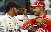 Sebastian Vettel (r.) und Ferrari winken dank des Brexits bessere Zeiten in der Formel 1