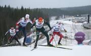 FIS Nordic World Cup - Nordic Combined HS98/5km: Jarl Magnus Riiber (l.) schnappte sich den Sieg vor Eric Frenzel