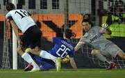 Milan Djuric (l.) erzielt die zwischenzeitliche Führung für Cesena