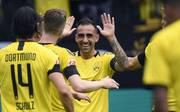Paco Alcacer bejubelt seinen Doppelpack gegen Augsburg