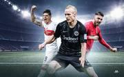 Sebastian Rode (M.) hat sich bei Eintracht Frankfurt einen Stammplatz gesichert