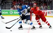 Finnland (weiß) steht sensationell im WM-Endspiel