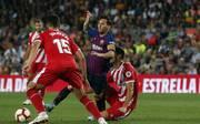 Lionel Messi traf nach Vorarbeit von Arturo Vidal zur Führung für den FC Barcelona
