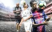 Pep Guardiola, Eden Hazard und Ousmane Dembélé