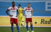 Kyriakos Papadopoulos (r.)  stellte sich öffentlich gegen HSV-Trainer Titz - auch Walace fiel in Ungnade