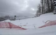 Der starke Schneefall machte ein Rennen am Samstag unmöglich