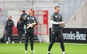 Manuel Neuer (r.) und Marc-Andre ter Stegen kämpfen um den Platz im deutschen Tor
