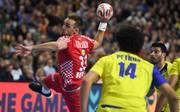 Kroatiens Luka Cindric verletzte sich im Spiel gegen Brasilien