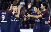Julian Draxler (2.v.l.) stand gegen den AS Monaco in der PSG-Startelf