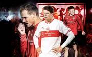 Holger Badstuber (l.) und Mario Gomez (M.) stehen vor einer ungewissen Zukunft beim VfB