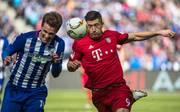 Robert Lewandowski bei Hertha gegen Bayern