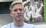 Oscar Wendt von Borussia Mönchengladbach vor dem Europa League-Duell mit dem FC Schalke 04
