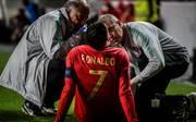 Cristiano Ronaldo musste gegen Serbien verletzt ausgewechselt werden