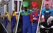 Karnevalsstart in Köln: Simon Terodde und Co. feiern mit lustigen Outfits