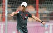 Niko Kovac bei seiner erster Trainingseinheit als Bayern-Coach