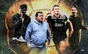 Mino Raiola berät unter andrerem Paul Pogba, Matthijs de Ligt und Zlatan Ibrahimovic (v.l.)