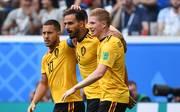 Eden Hazard (l.) könnte nach seiner starken WM mit Belgien bald für Real Madrid auflaufen