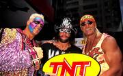 "Legenden bei WCW und WWE (v.l.): Sting, ""Macho Man"" Randy Savage, Hulk Hogan"