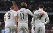 Karim Benzema, Gareth Bale und Cristiano Ronaldo stürmen gemeinsam