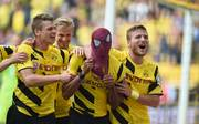 2014 jubelte Pierre-Emerick Aubameyang im Supercup als Spiderman