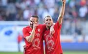 Neben Franck Ribery (links) soll auch Rafinha beim FC Bayern verlängern