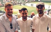 Ilkay Gündogan (r.) ist beim Wimbledon-Finale - wie zahlreiche andere Promis