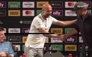 Pep Guardiola und Jürgen Klopp auf der PK nach dem Spiel Liverpool gegen City