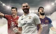 Robert Lewandowski, Karim Benzema, Luis Suárez, FC Bayern, Real Madrid, FC Barcelona