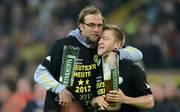 Dortmund's headcoach Juergen Klopp (L) a