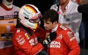 Sebastian Vettel (links) und Charles Leclerc lieferten sich in Bahrain ein Duell