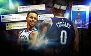 Stephen Curry ist einer von wenigen, die von Cousins' Entscheidung begeistert sind