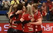 Der Dresdner SC gewinnt gegen den USC Münster in der Volleyball-Bundesliga der Frauen