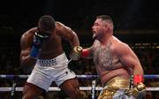 Andy Ruiz jr. (r.) schlug Anthony Joshua in der 7. Runde K.o.