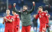 Javi Martinez jubelt nach dem Sieg gegen Hoffenheim