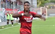 Shaibou Oubeyapwa traf für Oberhausen zum 2:1 beim 3:2-Sieg gegen Alemannia Aachen