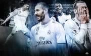 Karim Benzema (2.v.l.) ist mit elf Treffern noch der gefährlichste unter den Erben Cristiano Ronaldos