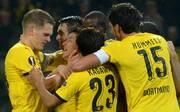 Borussia Dortmund bejubelt den Siegtreffer gegen FK Krasnodar