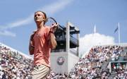 Der achte Profi, der in Paris drei Spiele hintereinander über fünf Sätze gehen musste: Alexander Zverev