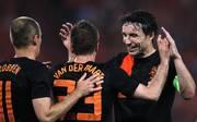 Arjen Robben, Rafael van der Vaart und Mark van Bommel (v.l.) spielten jahrelang gemeinsam für die niederländische Nationalmannschaft