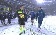 Wegen heftiger Schneefälle wurde die Partie zwischen Juventus Turin und Bergamo nicht angepfiffen