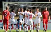 RB Leipzig erreichte trotz Rückstands die zweite Runde im DFB-Pokal